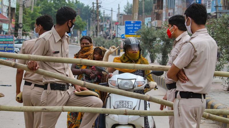Gurugram under lockdown. (PTI)