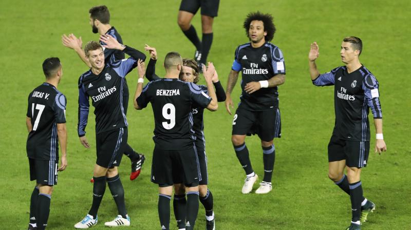 Real Madrid dominated the first half but struggled to penetrate the opposition's defense until Benzema's late goal. (Photo: AP)