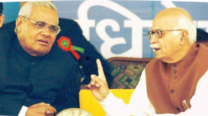 In his condolence message, LK Advani said, 'Vajpayee's sterling humane qualities like compassion, humility and his remarkable ability to win over adversaries despite ideological differences have all had a profound effect on him. (Photo: File | PTI)