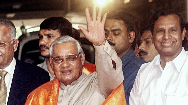 Former prime minister Atal Bihari Vajpayee died at 93 on Thursday. (Photo: File | PTI)