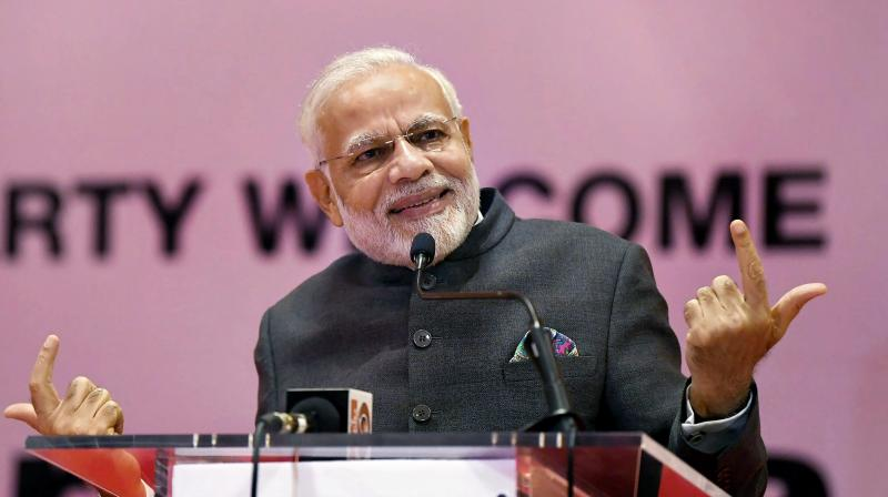 Modi is trying to set the record straight in acknowledging that industrialists do have a major role to play in the country's development. (Photo: PTI)