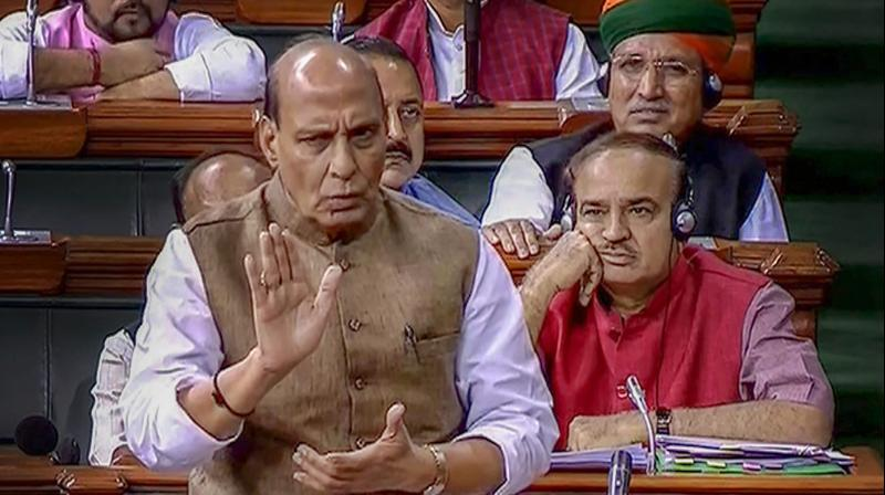 In the Lok Sabha, Rajnath Singh said since there were prohibitory orders in Assam, state officials had 'requested' TMC MPs to return from the airport itself. (Photo: File