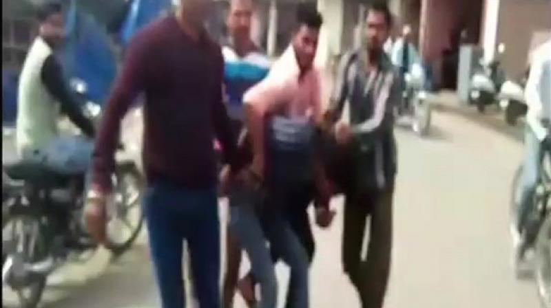 'I was thrashed and forcefully made to drink urine. They accused me of having illicit relations with a girl, but I do not even know her. Even the girl doesn't know me. I fear for my life now. I want police action as soon as possible,' the victim said. (Photo: ANI)