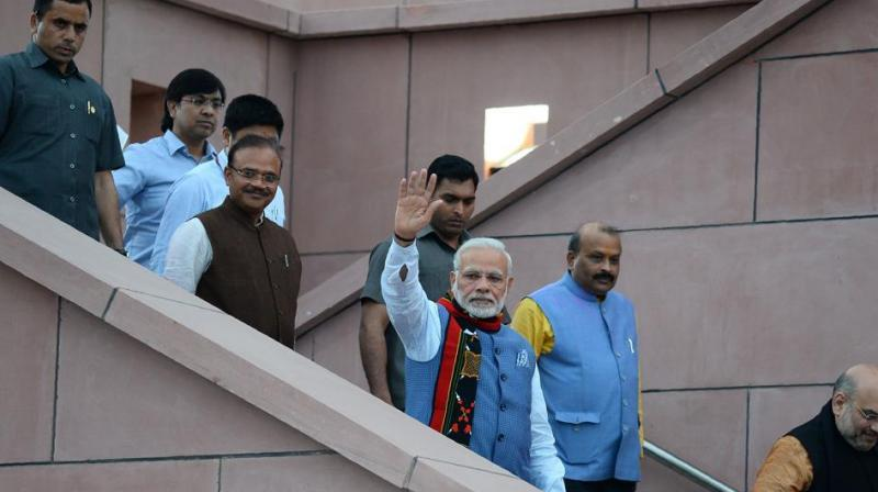 Prime Minister Narendra Modi and BJP national president Amit Shah are expected to attend the swearing-in ceremony. (Photo: AFP)