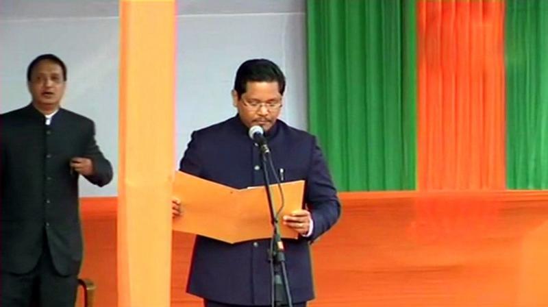 Meghalaya Chief Minister Conrad K Sangma (Photo: ANI | Twitter)