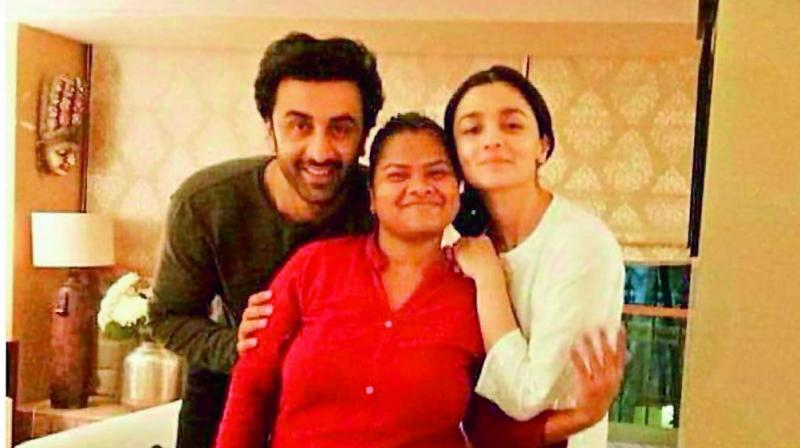 Ranbir Kapoor and Alia Bhatt posing together for a picture. (Photo- Social Media)