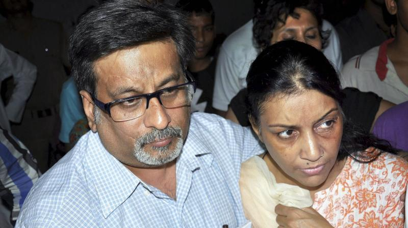 File photo of destist-couple Nupur Talwar and Rajesh Talwar, who were acquitted by the Allahabad High Court in the twin murder case of her daughter Aarushi and domestic help Hemraj. (Photo: PTI)