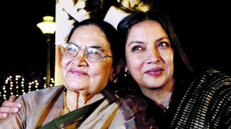 Shaukat Kaifi and Shabana Azmi