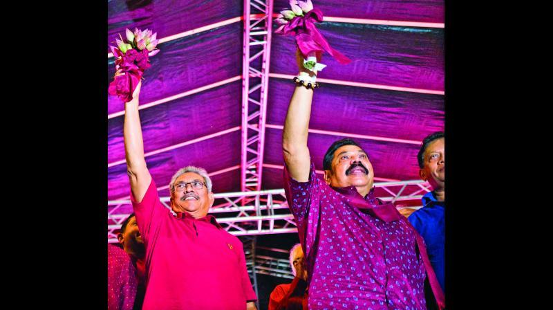 Gotabhaya Nandasena Rajapaksa and Mahinda Rajapaksa