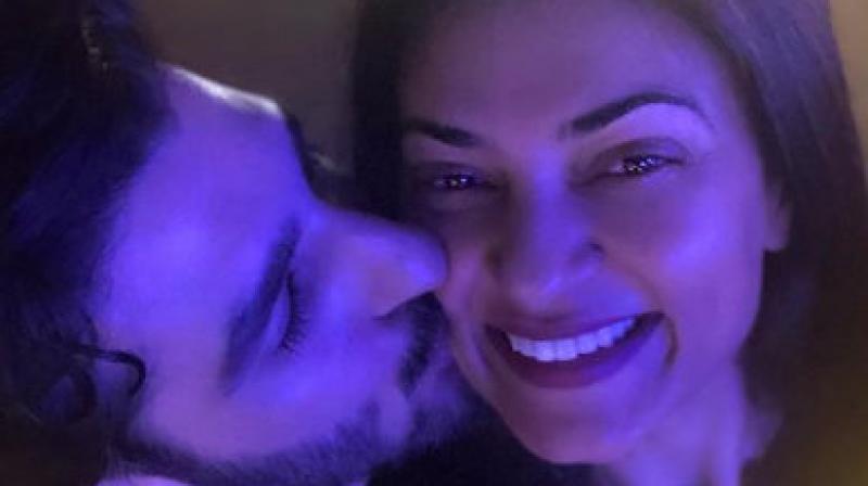 Sushmita Sen with her boyfriend Rohman Shawl. (Photo: Instagram)