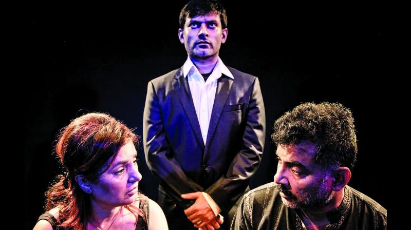 A still from the play UNTITLED 1 by Danish Hussain