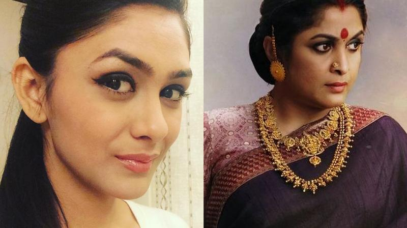 Mrunal Thakur and Ramya Krishnan as Sivagami.