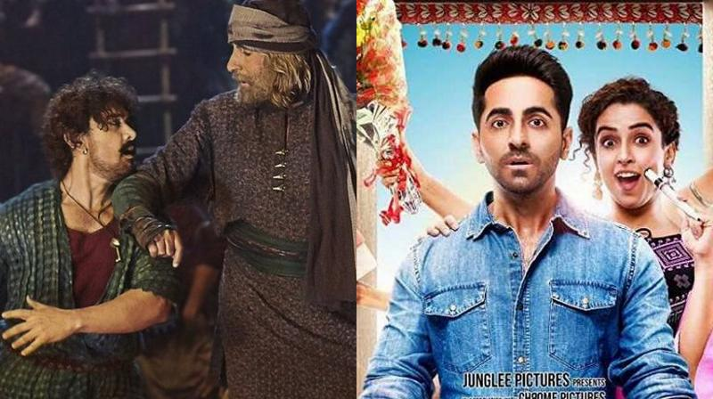Badhaai Ho is rock-steady at box-office despite the release of Thugs of Hindostan.