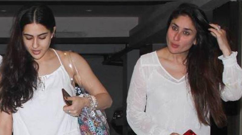 Sara Ali Khan and Kareena Kapoor Khan.
