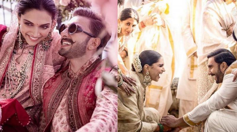 Deepika Padukone and Ranveer Singh during their wedding functions. (Image courtesy: Instagram/deepikapadukone)