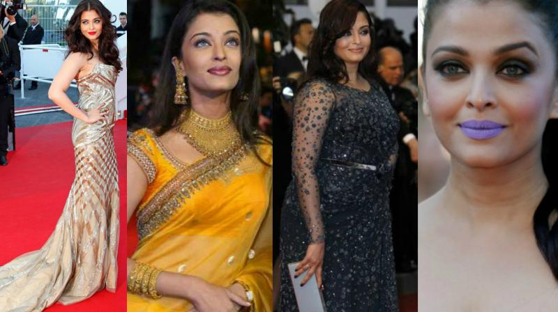 Aishwarya Rai Bachchan, one of the few Indian names synonymous with the Cannes film festival, will be walking the red carpet on Friday. Here we take you through her attire journey over the past 15 years.