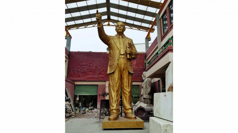 A three-member committee has suggested some changes in the two prototypes, designed by sculptor Ram Suthar, for Dr Babasaheb Ambedkar memorial.