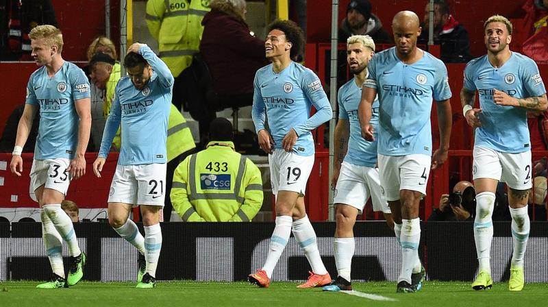 City have 89 points, one more than rivals Liverpool, with both teams having three games to play and none of them against top six opponents. (Photo: AFP)