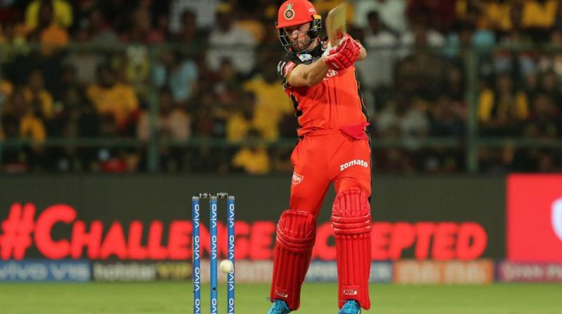 Man of the Match AB de Villiers, who scored an unbeaten 82 off 44, credited RCB bowlers for winning the match for the team. (Photo: BCCI)
