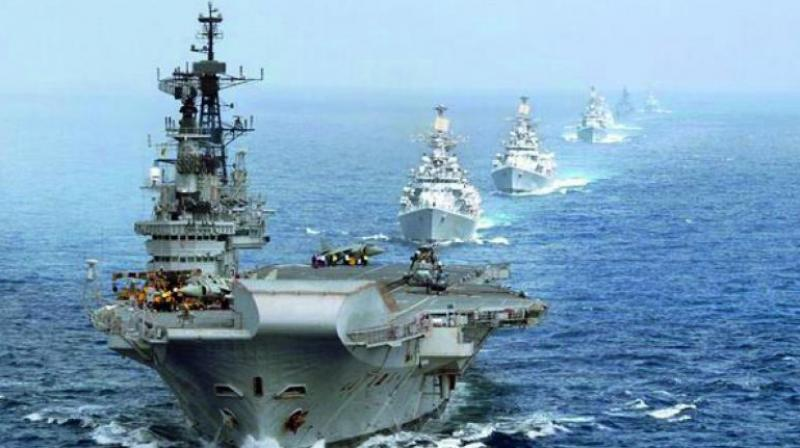 The US Navy said the Indian, Japanese and US maritime forces look forward to working together and advance their working relationship. (Representational image)