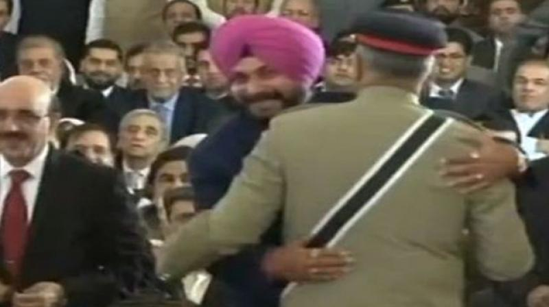 Sidhu was widely criticised for hugging Pakistan Army chief during his visit to Pakistan to attend the swearing-in ceremony of Imran Khan. (Photo: ANI)