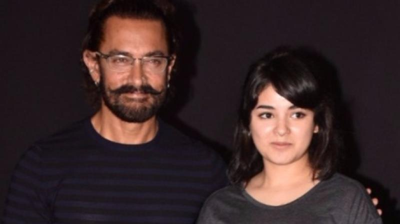 Aamir Khan and Zaira Wasim had worked together in 'Dangal' before.