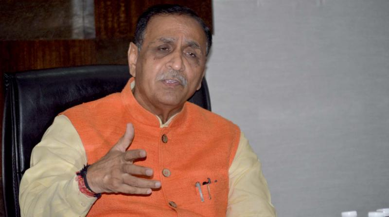 Vijay Rupani, the chief minister of Gujarat.