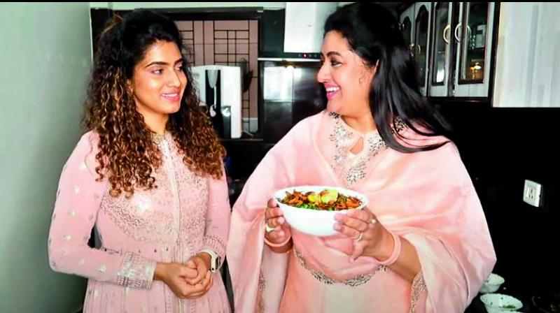 Sameera, herself a popular television actress in Tamil, got the idea of making a simple biryani at home