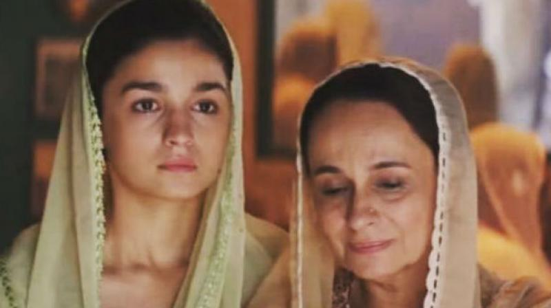 Alia Bhatt and Soni Razdan in a still from 'Raazi' trailer.