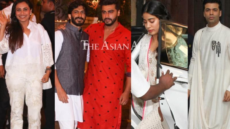 The build-up to Sonam Kapoor's wedding kicked off in style with her Mehendi ceremony taking place in Mumbai on Sunday, which was attended by several celebrities. (Photos: Viral Bhayani)