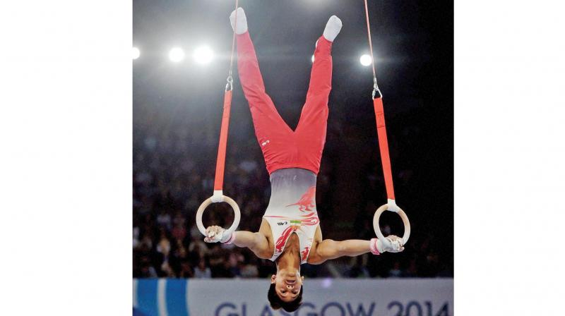 Ashish Kumar is carrying India's hopes in gymnastics.