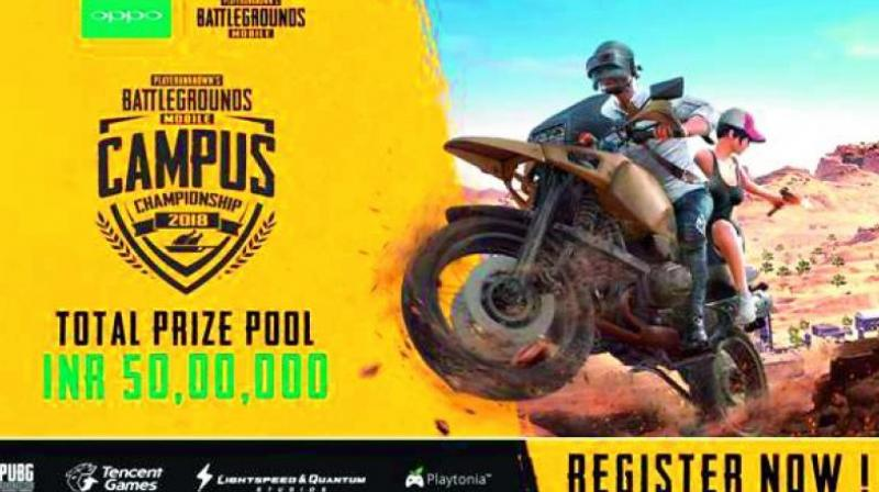 The mobile gaming phenomenon is heading to college campuses across the country with 1,000 colleges across 30+ cities participating in the event that has a mammoth prize pool of  Rs 50 lakh.