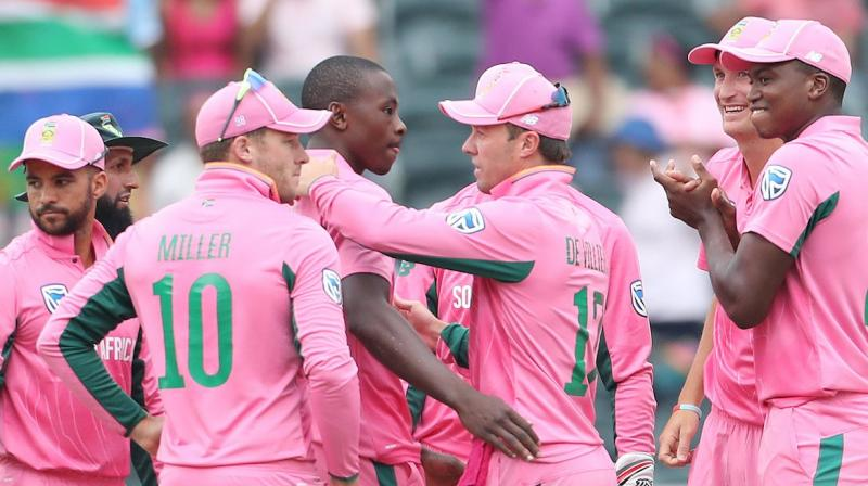 It was a team effort from Proteas that helped them register a comprehensive win. (Photo: Twitter / BCCI)