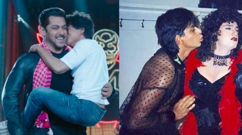 Shah Rukh and Salman Khan in 'Zero' teaser, SRK with Aamir Khan in throwback photo.