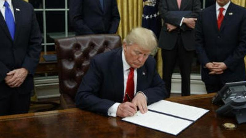 President Trump signed a National Security Presidential Memorandum approving a new Conventional Arms Transfer (CAT) policy, Sanders said on Thursday. (Photo: AP)
