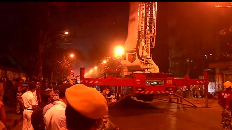At least seven people were killed in an inferno in a multi-storeyed building in Kolkata, which houses zonal offices of Eastern Railway and South Eastern Railway. (ANI/Twitter)