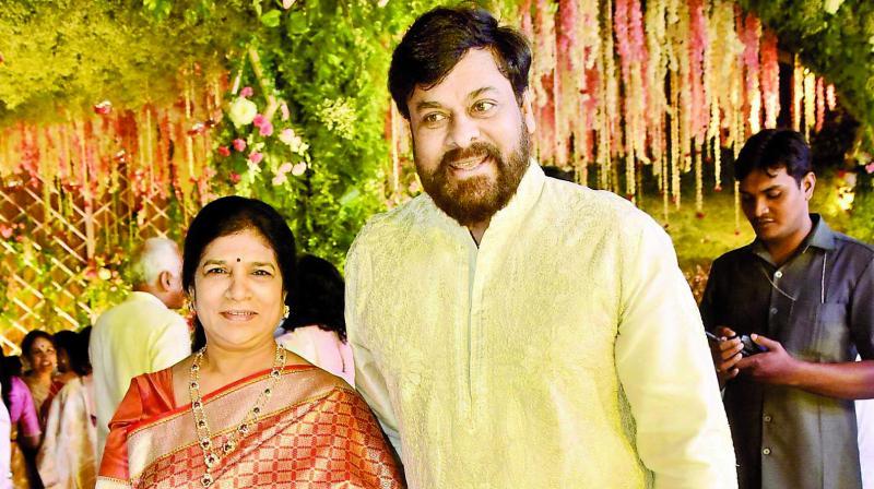 Chiranjeevi with his wife Surekha