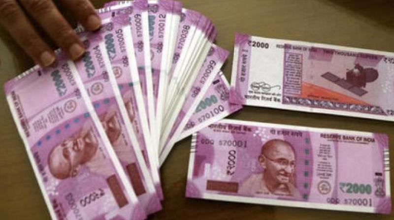 New notes of Rs 2000 issued by the Reserve Bank of India. (Photo: PTI)