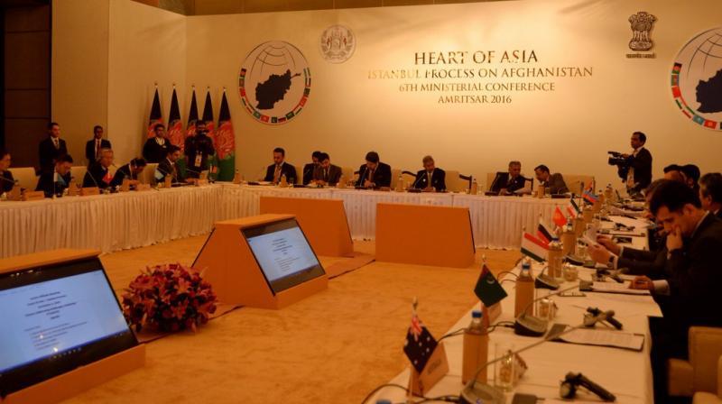 Delegates from across the world attend the Heart of Asia summit which is currently underway in Amritsar. (Photo: Twitter/MeA)
