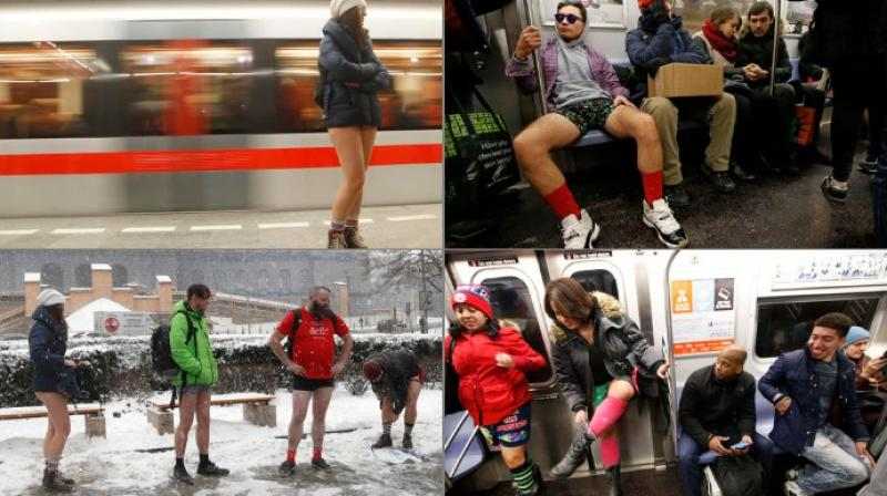What begin as a prank in New York around 15 years back, is now an event on the global calenders as passengers drop trousers around the world (Photo: AP)