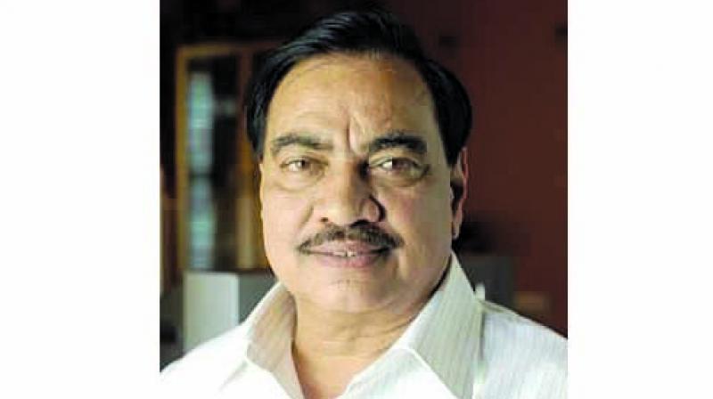 Senior party leader and former revenue minister Eknath Khadse