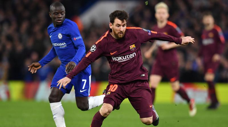 Messi also gave Barcelona a narrow edge in their Champions League round-of-16 matchup heading into the second leg at Camp Nou on March 14. (Photo: AFP)