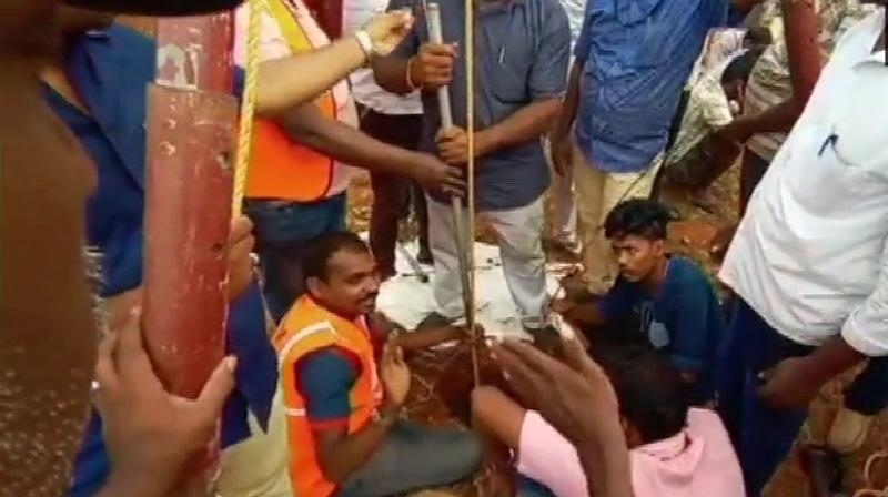 The boy fell into the borewell at about 5:30 pm on Friday. Later at night, he slipped from a depth of 25 feet to 70 feet after the tube-well caved in during the rescue efforts.  (Photo: ANI)