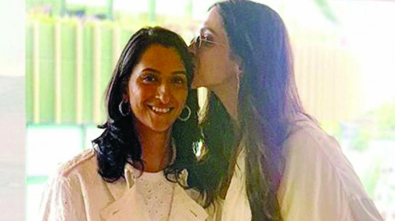 Anisha and Deepika Padukone