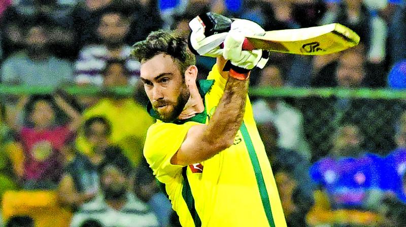 Glenn Maxwell en route to his unbeaten ton against India in the second T20 on Wednesday. (Photos: Samuel Rajkumar)