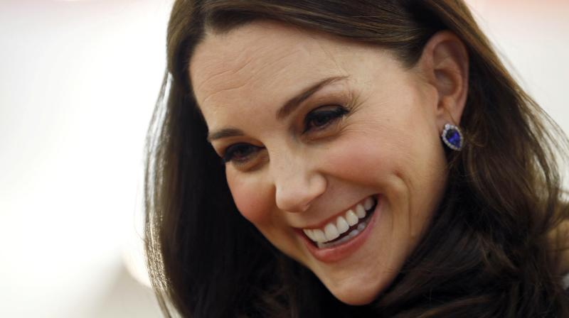 Photos show Kate barely looked pregnant in the late stages of her previous pregnancies, however the royal has displayed a blooming figure during her recent official engagements. (Photo: AP)