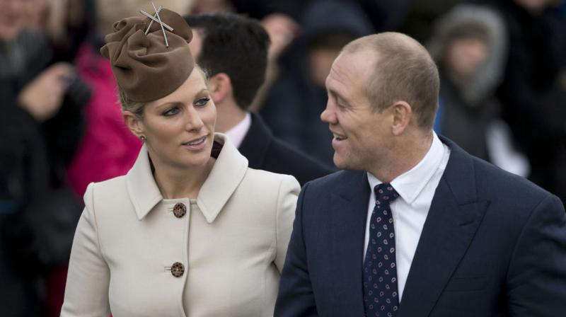 Granddaughter of Britain's Queen Elizabeth II, Zara Phillips and her husband Mike Tindall. (Photo: AP)
