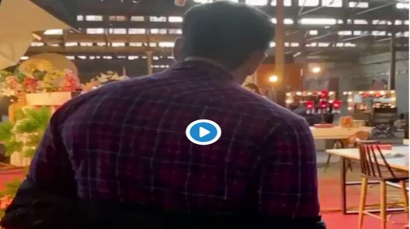 Salman Khan on the sets of 'Radhe'. (Photo: Twitter)