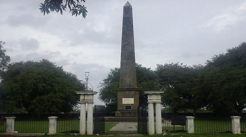 Bhima Koregaon Victory Pillar. (Photo: Wikipedia)