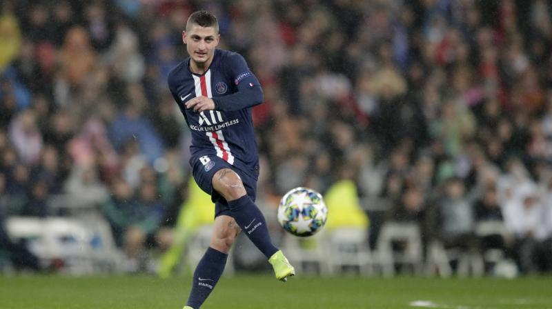 Italy midfielder Marco Verratti has been ruled out of Paris Saint-Germain's Ligue 1 trip to Monaco on Sunday because of an injury, coach Thomas Tuchel said on Saturday. (Photo:AP)